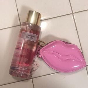 Vs lip coin bag and pink sunset mist